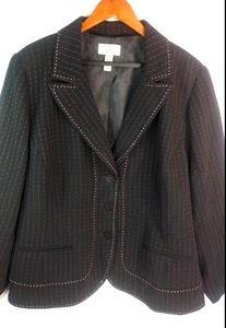 Covington Pink Black Suit Blazer 22W Plus